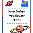 Solar System Vocabulary Match