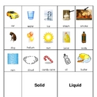 Solid, Liquid, and Gas Picture Sort