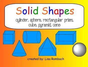 Solid Shapes (3d) Math SmartBoard Lesson Primary Grades