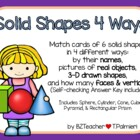 Solid Shapes 4 Ways Match Game