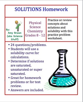 Solutions Homework Worksheet