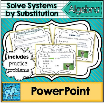 Solve Linear Systems of Equations by Substitution PowerPoint