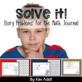 Solve This - Math Journal Story Problems