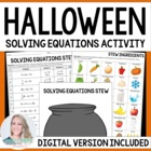 Solving Equations Activity