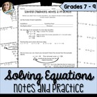 Solving Equations Notes and Guided Practice