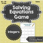 Solving Equations with Integers Game