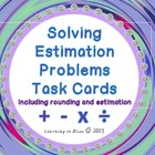 Solving Estimation Problems Task Cards