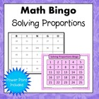 Solving Proportions Bingo