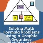 Solving Simple Math Formulas Using a Triangular Graphic Organizer