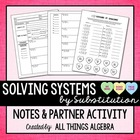 Solving Systems of Equations - Notes & Valentine's Day Par