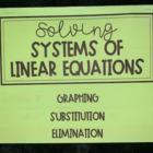 Solving Systems of Equations x 3 (Foldable)