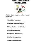 Solving Word Problems - Math word & story problems Poster to Hang