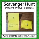 Solving Word Problems With Percents  Scavenger Hunt