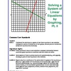Solving Systems of Linear Equations by Graphing, Pt. II