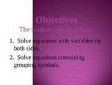Solving different equations