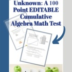 Solving for One Unknown: A Cumulative Algebra Test