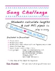 Song Challenge - Fun Activity with the Physics of Sound