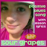 Song - funny blues positivity song w/lesson plan, lyrics -