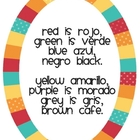 Song for Teaching Spanish Colors