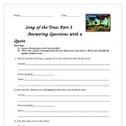 Song of the Trees Lesson and Activity Packet