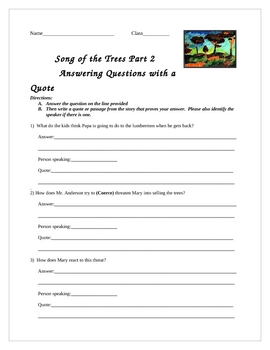 Black History Month-Song of the Trees Lesson and Activity Packet