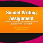 Sonnet Writing Activity Assignment