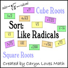 Sort: Like Radicals,Square Root, Cube Roots,
