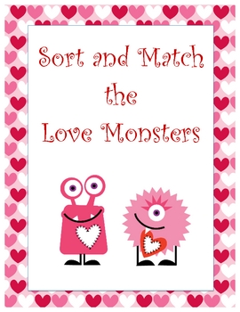 Sort and Match the Love Monsters