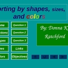 Sort by Color, Shape, and Size PowerPoint Game