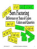 Sort:Factoring -Difference/Sum of Cubes-Cubics,Quartics