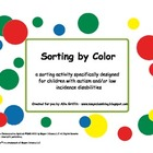 Sorting by Colors Activity - Great for Autism or Low Incid