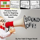 Sound Off! Sound Sorts for Phonemic Awareness by Kim Adsit
