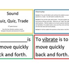 Sound Quiz, Quiz, Trade Game/Center
