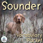 Sounder Vocabulary Packet w/ Quiz