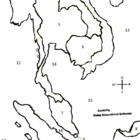 Southeast Asia Interactive Numbered Map, Smartboard, Inter