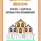 Southwest Region Interactive States + Capitals PowerPoint