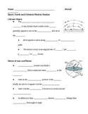 Space Earth and Celestial Objects Notes Outline Lesson Plan