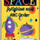 Space Literacy Activities- Syllables and Alphabetical Order