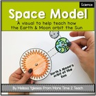 Space: Model of Earth &amp; Moon&#039;s orbit