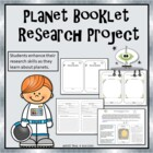 Space Planet Mini-Booklet Research Project Activity