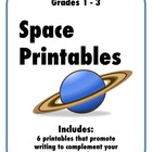 Space Printables: 6 Worksheets to Complement your Space Unit