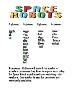 Space Robot Phonemic Awareness