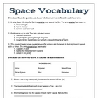 Space Science Vocabulary HW