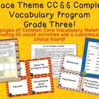 Space Theme Grade Three CCSS Complete Vocabulary Program
