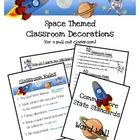 Space Themed Classroom Decor