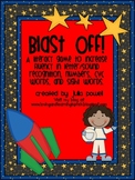 Space Themed Math and Literacy Game~ Blast Off!