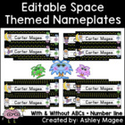 Space Themed Nameplate/Deskplate/Nametag