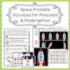Space-Themed Printable Activities for Preschool and Kindergarten