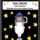 Space Word Family Literacy Center