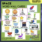Space Word Wall Cards (set of 15)
